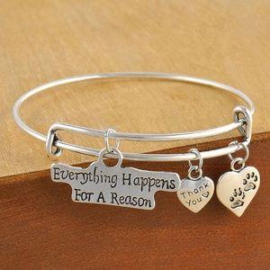 Fashion bracelet silver color